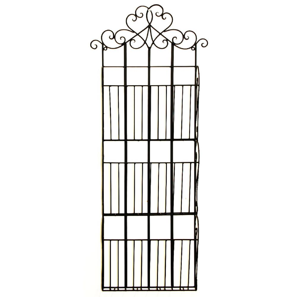Black Metal 3 Section Magazine Letter & Post Wall Rack